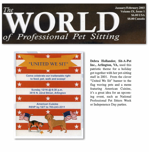 World of Professional Pet Sitting (2003)